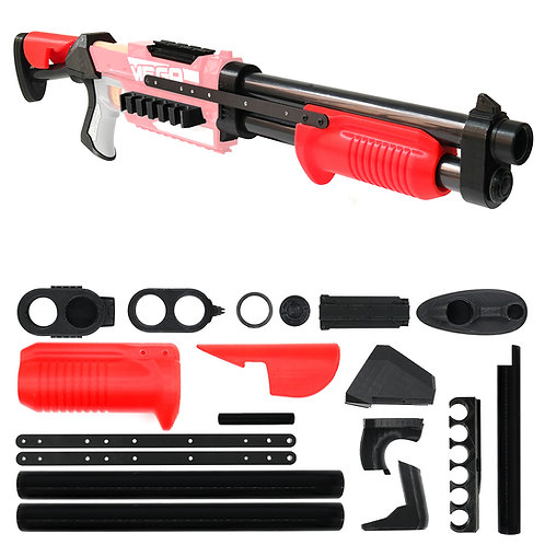 AK MOD Benelli M4 Shotgun Imitation Kit 3D Printed for Nerf Magnus Modify Toy