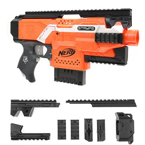 BlasterForgePH 3D Print Hulker Kit Tactical Expansion Set for Nerf STRYFE Modify
