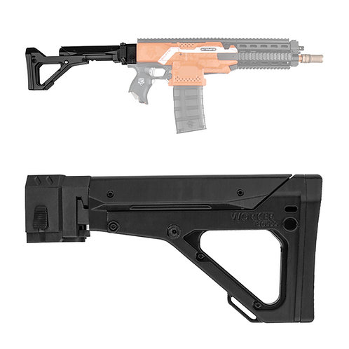 Worker MOD F10555 UBR Rifle Style Foldable Collapsible ButtStock for Nerf Toy