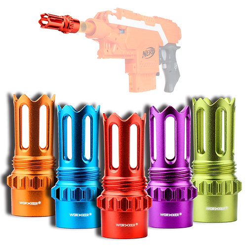 Worker MOD Scar Flash Hider Muzzle Screw Tap Barrel Tube for Nerf Toy