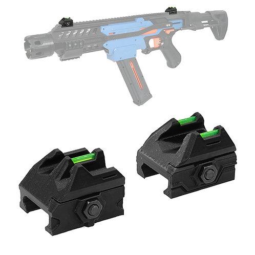 AKBM 3D Print Fiber Optic Dot Sight Picatinny Rail Set for Nerf Modify Toy