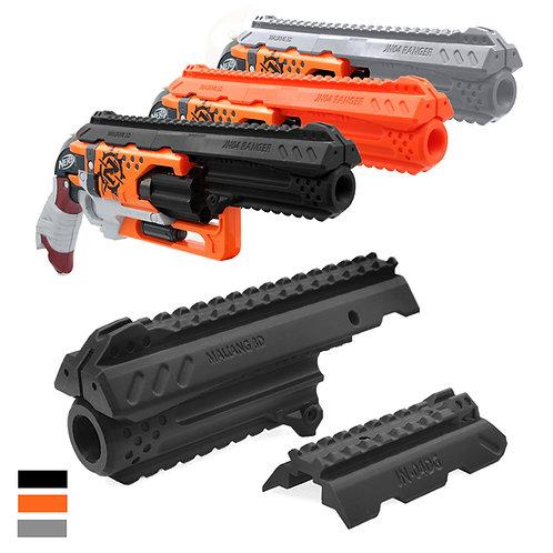 MaLiang 3D Print Ranger Extended Handgun Barrel for Nerf HammerShot Modify Toy