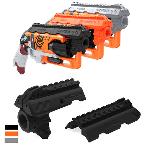 MaLiang 3D Print Ranger Handgun Barrel JN-04 for Nerf HammerShot Modify Toy