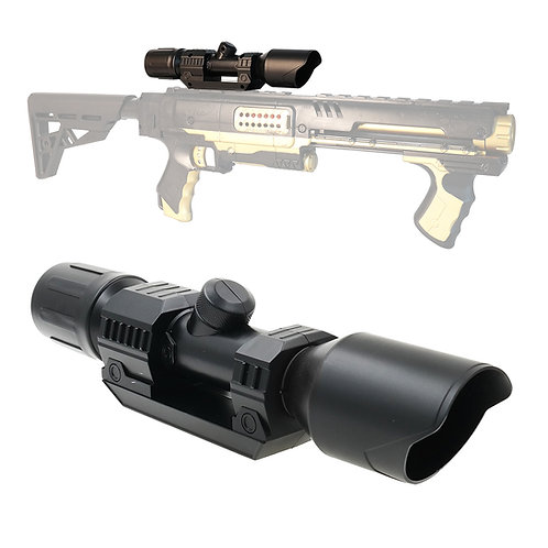 Tactical Distance Scope Sight Attachment Black for Nerf Blaster MOD
