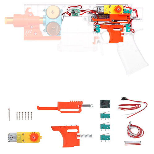 Worker MOD Swordfish Blaster Full Auto Pusher Kit Foam Nerf Dart Modify Toy