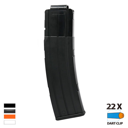 Worker MOD AK 47 Style Banana 22 Darts Magazine for Nerf Toy