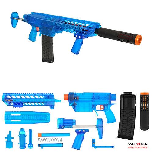 Worker MOD Prophecy-R DIY Short Dart Stefan Basic Kit Blue Set Nerf Modified Toy