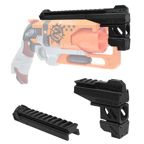 MaLiang 3D Print Snub Magnum Barrel Rail for Nerf HammerShot