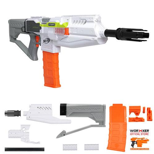 Worker MOD Halo M412 DMR Imitation Kit 3DPrint White for Nerf Stryfe