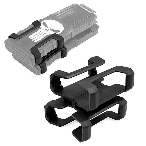 Tactical Magazine Coupler Link Nylon Black for Nerf Worker Mag Clip Modify Toy