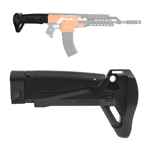 Worker MOD F10555 AK ALFA Carbine Style Foldable ButtStock for Nerf Toy