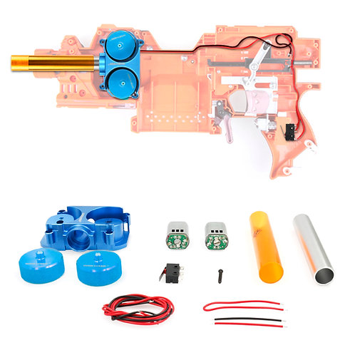 Worker MOD Metal Flywheel Canted Cage Motor Kit for Nerf Stryfe Rapidstrike