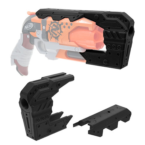 MaLiang 3D Hades Barrel Mechanic Modern Style for Nerf HammerShot