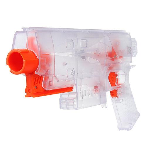Worker MOD Swordfish Blaster Shell Clear Motorized Foam Nerf Dart Modify Toy