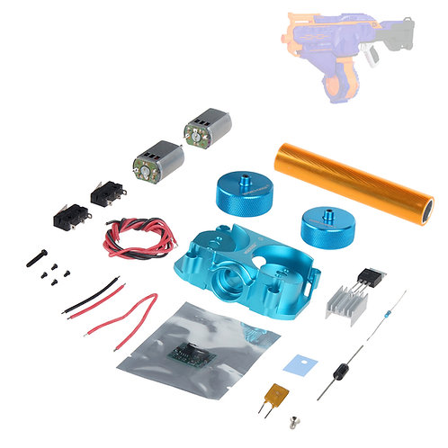 Worker MOD Motor Metal Flywheel Canted Cage Kit for Nerf Infinus