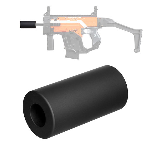 Worker MOD Minimalist Silencer direct plug in 19mm barrel tube for Nerf Toy