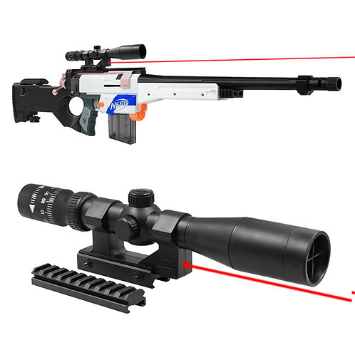 Tactical Sniper Distance Scope 1.5X Sight with Pointer for Nerf Blaster