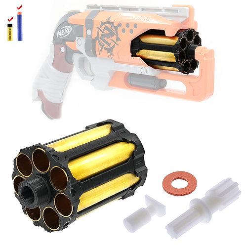 AKBM 7 Darts Brass Tube Cylinder with Reinforced Gear for Nerf HammerShot