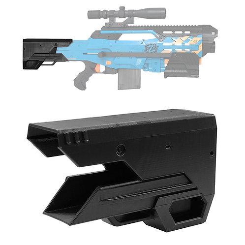 BlasterforgePH 3D Print Tactical Fixed Butt Stock for Nerf LongShot