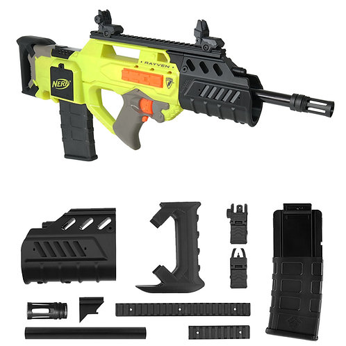 Worker MOD F10555 Bullpup Rifle Imitation Kit 3DPrint for Nerf Rayven