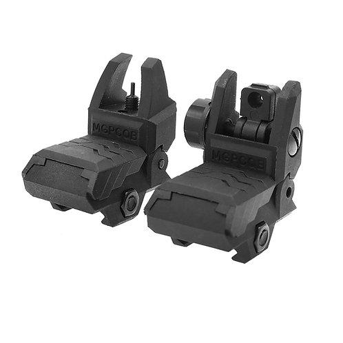 AKBM QD Flip Up Front Rear Sight Adjustable for Nerf Toy