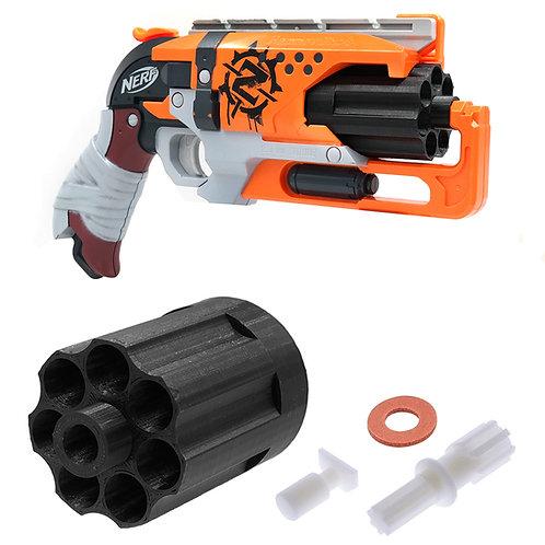 AKBM 3D Print 7 Darts Cylinder with Reinforced Gear for Nerf Hammer Shot