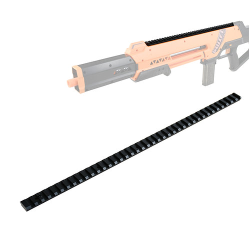 Worker MOD Full Length 395mm Metal Top Rail for Swift Balster Modify Toy