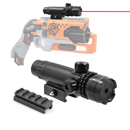AKBM Tactical Red Laser Sight Pointer with Weaver Mount for Nerf Toy
