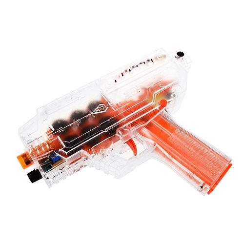 Worker MOD Phoenix Blaster 6 Flywheels Motorized Pistol for Short Dart Nerf Toy