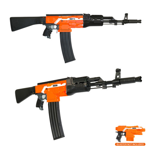 Transform your Nerf Stryfe Blaster into a AK 47 Rifle! All you need to is  just install and fitting all the parts onto your blaster, of course there  are ...