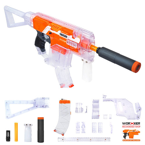 Worker MOD Kriss Vector Imitation Kit Clear Combo for Nerf Stryfe