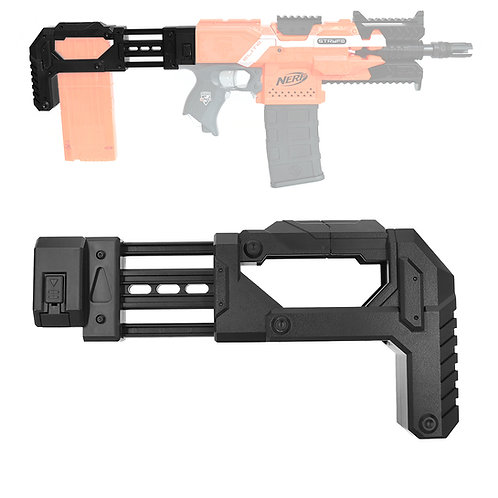 AK Blaster MOD Tactical Storage Fixed Butt Stock Black for Nerf