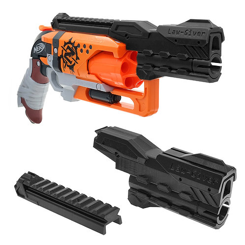 MaLiang 3D Print Pistol Barrel Top Rail for Nerf HammerShot