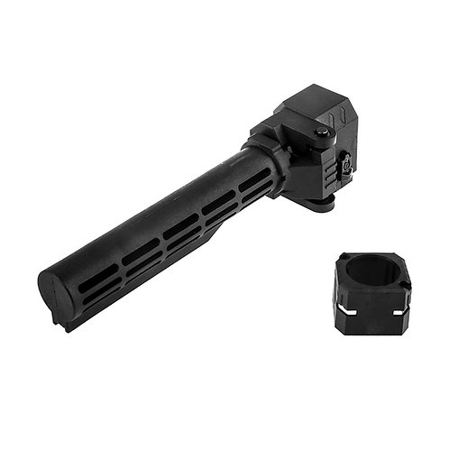 Worker MOD Folding Buffer Tube 6-Pos Black Stock for Nerf Toy