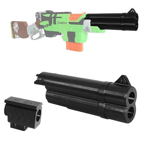 MaLiang 3D Print Shotgun Barrel Muzzle Sight Black for Nerf SlingFire