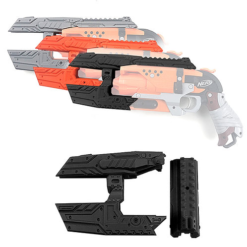 MaLiang 3D Print The Pulse Pistol Barrel Set for Nerf HammerShot