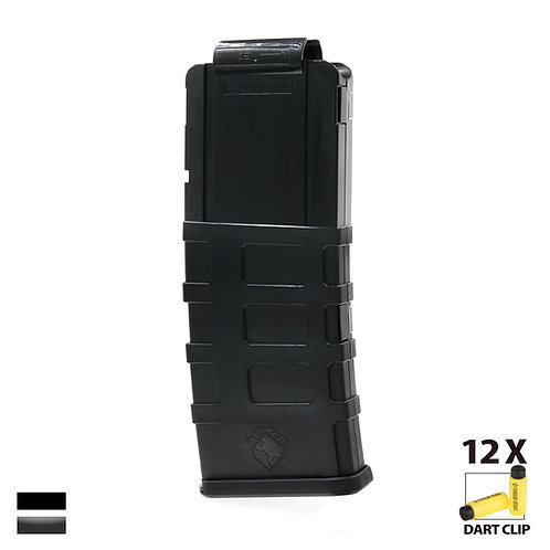 Worker MOD Magpul Style 12 Short Darts Stefan Magazine for Nerf Toy