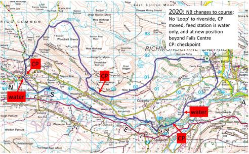 Falls Castle 2020 18 mile map