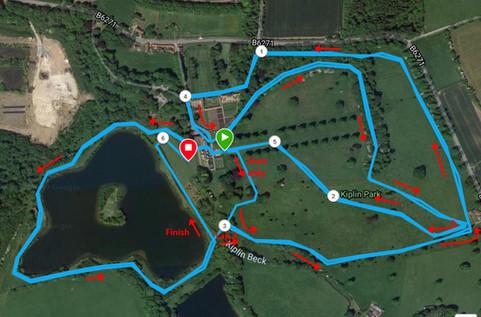 Kiplin 10k finalised marked route.jpg