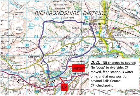 Falls Castle 2020 7 mile map
