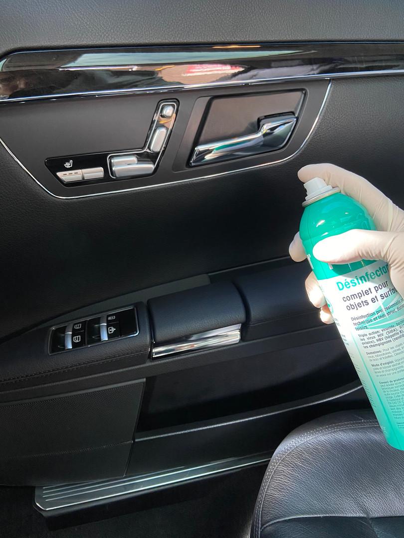 Antibacterial Car Disinfection