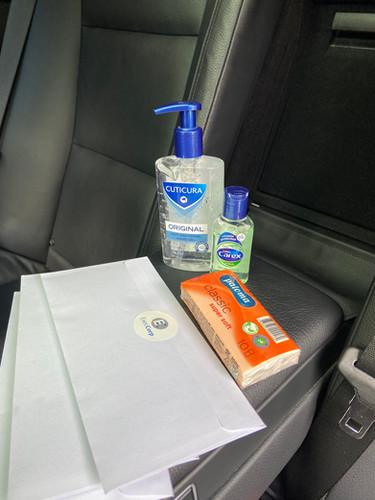 In car sanitisers