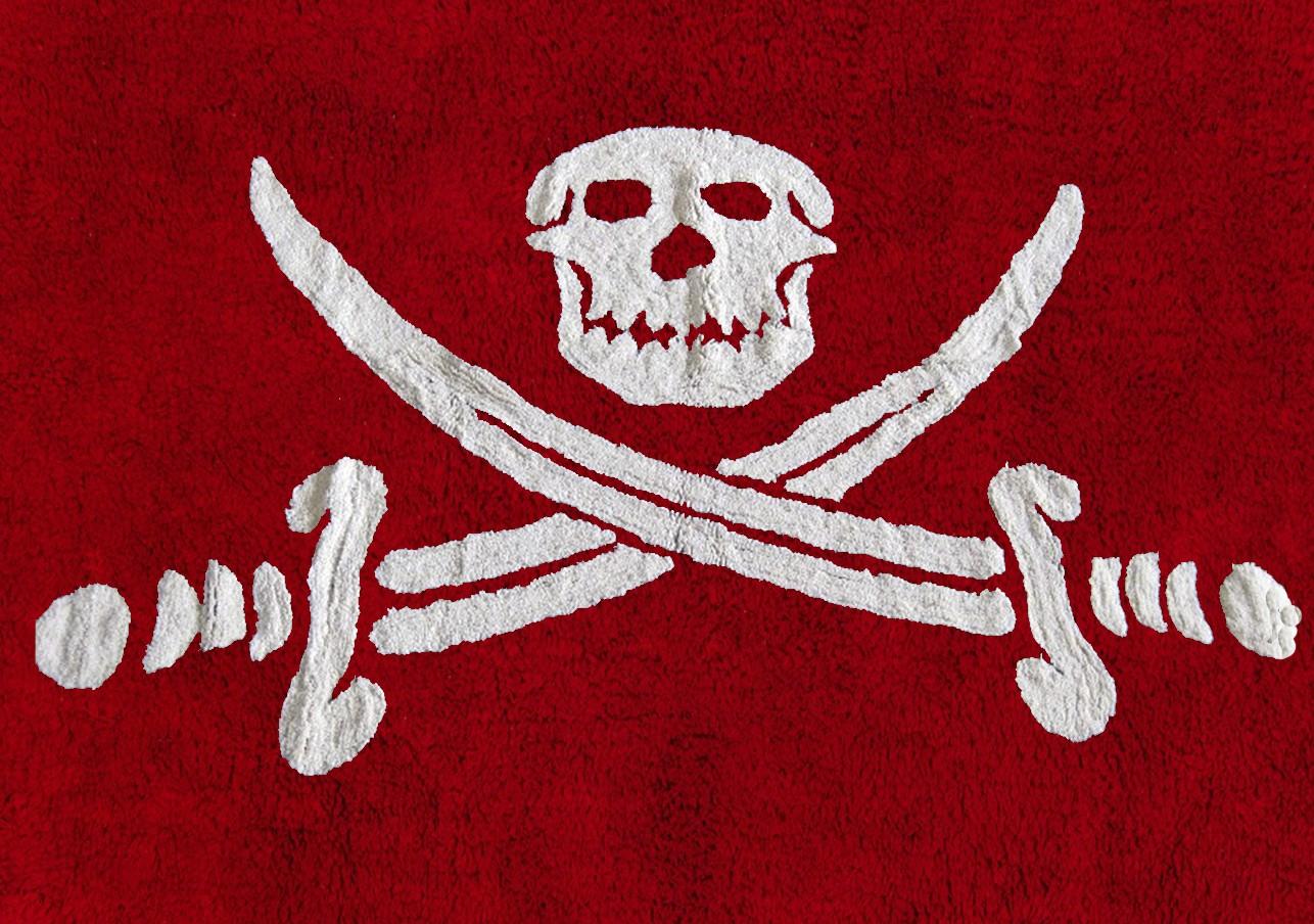 Bandera Pirata Rojo