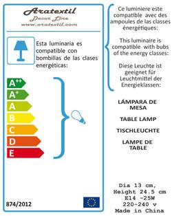 TABLE LAMP LABEL GENERIC