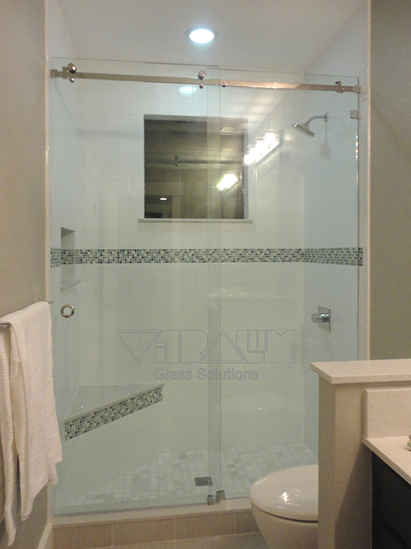 Frameless Glass Slider