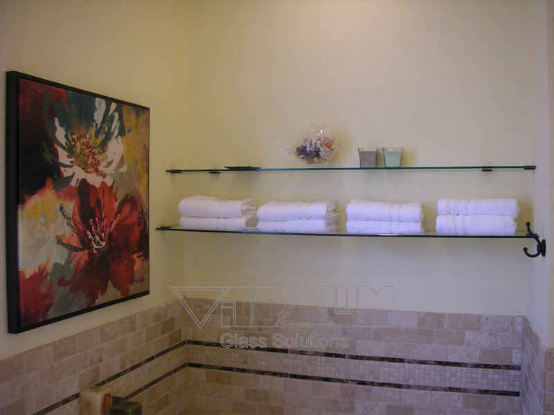 Frameless Glass Shelf
