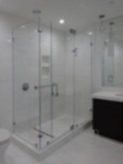 Frameless Shower Door Ninety Degree