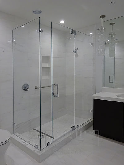 Frameless Shower Door Ninety Degree