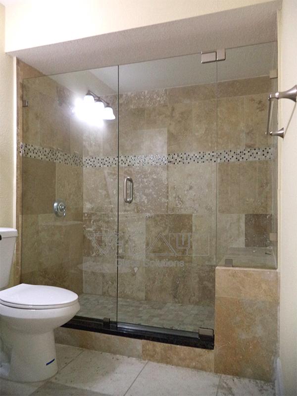 Frameless Shower Door Inline