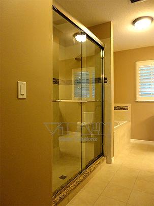Bypass frameless shower doors vitralum glass solutions - Doors for tight spaces ...